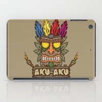 playstation iPad Cases featuring Aku-Aku (Crash Bandicoot) by Pancho the Macho
