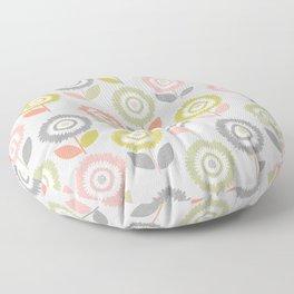 Soft Graphic Flower Pattern Floor Pillow