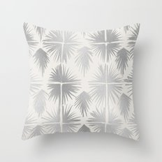 Radiate Silver Throw Pillow