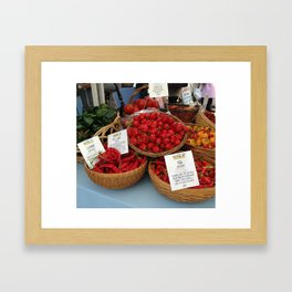 The Market Framed Art Print