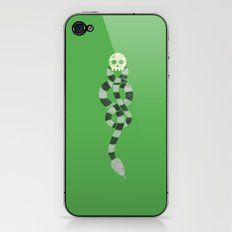 The Scarf Mark - Green and Black iPhone & iPod Skin