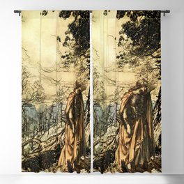 """Brunhilde Dazed and Alarmed"" by Arthur Rackham Blackout Curtain"