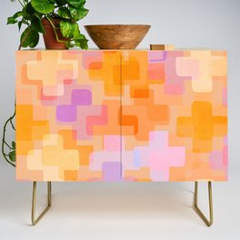 It All Adds Up / Abstract Shapes Pattern Credenza