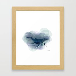 Alphabetical Animals – H for Humpback Whale Framed Art Print
