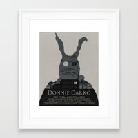 donnie darko Framed Art Prints featuring Donnie Darko Poster by beware1984