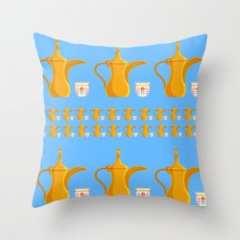 Arabic coffe pot Throw Pillow