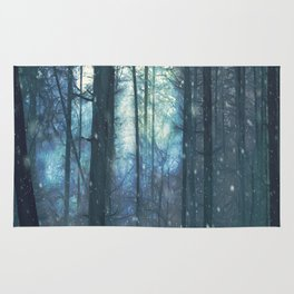 The Woods In Winter Rug