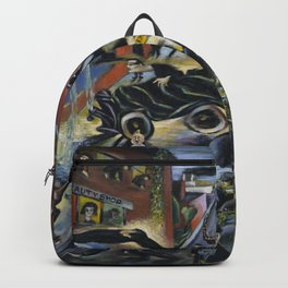 American Masterpiece 'Automobile Accident' by Howard Taft Lorenz Backpack
