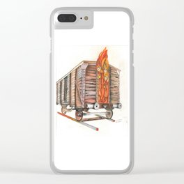 Death Traing Clear iPhone Case