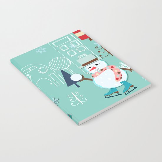 winter fun blue Notebook