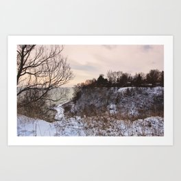 Scarborough Bluffs in Winter on December 27th, 2020. VI Art Print