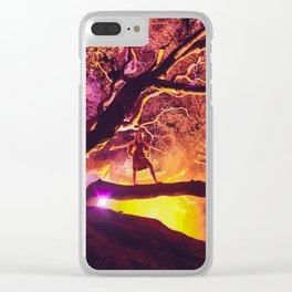 Midnight Spell Clear iPhone Case