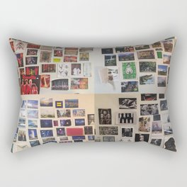 Postcard Wall Spaced Rectangular Pillow