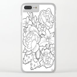 Floral Collage Clear iPhone Case