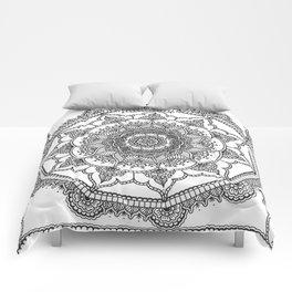 White Henna Bloom Comforters