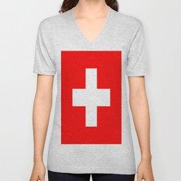 Flag of Switzerland Unisex V-Neck