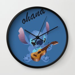 Ohana means family Wall Clock