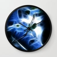 lunar Wall Clocks featuring Lunar by John Nandor