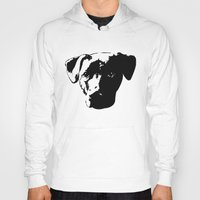 pit bull Hoodies featuring Lab Pit Bull by MIX INX