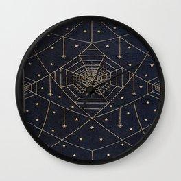 Spider Silk Stars Book Wall Clock