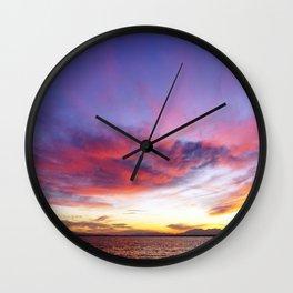 breathtaking sunset Wall Clock
