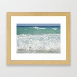Carribean sea 9 Framed Art Print