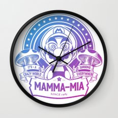 Mamma Mia Super Mario is-a Crazy Wall Clock