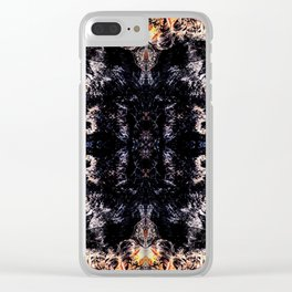 Flame kaleidoscope Clear iPhone Case