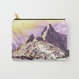 Machu Picchu- Sacred Valley, Peru.  Watercolor paper Carry-All Pouch