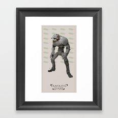 FI robot Framed Art Print