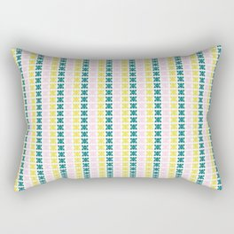 Hand Drawn Triangle Patterns Stripes Rectangular Pillow