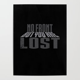 No Front Buy You Are Lost Poster