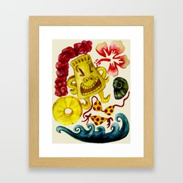Party Tiki Framed Art Print
