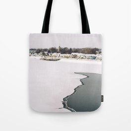 Frozen Ottawa River Tote Bag