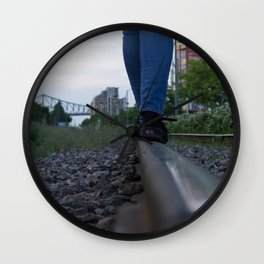 The train track-gravel equilibrium Wall Clock