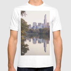 Central Park Sunset Mens Fitted Tee MEDIUM White