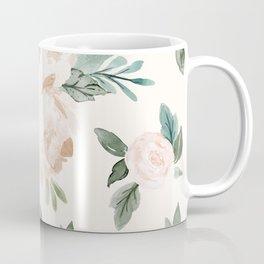 Vintage Blush Floral - softest pastel Coffee Mug