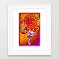 soccer Framed Art Prints featuring Soccer by Ticopage designs
