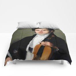 Portait of young Niccolò Paganini Comforters
