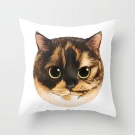 Round Cat - Lang Throw Pillow