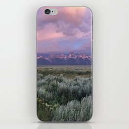 Teton Range Sunrise iPhone Skin