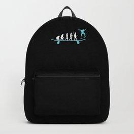 Skater Evolution Skateboard Skateboarding Gift Backpack