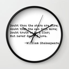 William Shakespeare quote 02 Wall Clock
