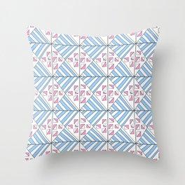 Symetric triangle 7 -vichy, gingham,strip,triangle,geometric, sober,tartan,mandala Throw Pillow