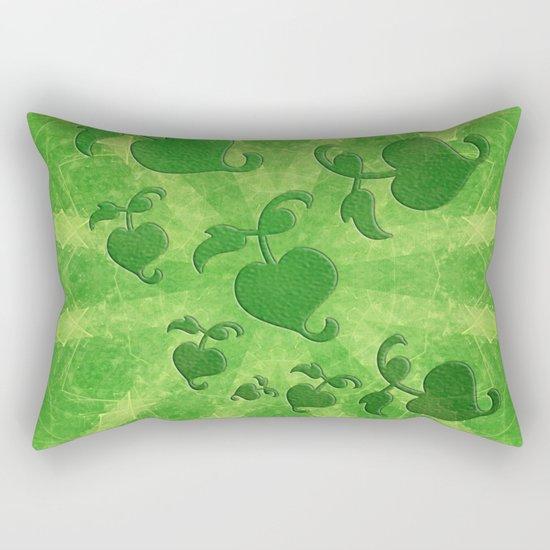 Vine leaves on green kaleidoscope Rectangular Pillow