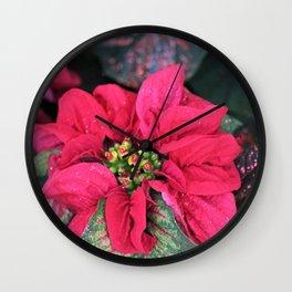 Christmas Flower Wall Clock