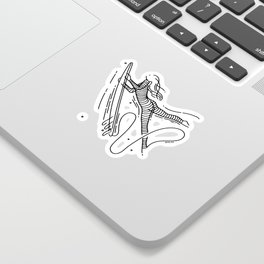 Tropical State Of Mind - Portrait - Color Sticker