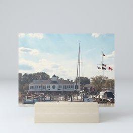 """Huron Yacht Club, Photography"" by Willowcatdesigns Mini Art Print"