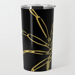 Spider in Gold Travel Mug