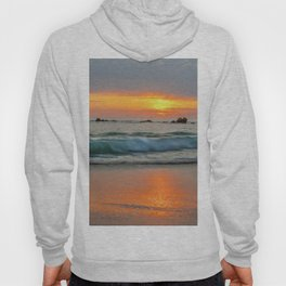 Golden sunset with turquoise waters Hoody